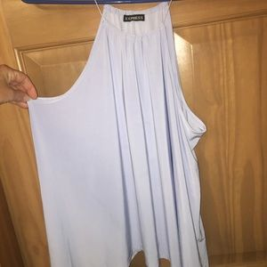 Express light blue top. Flowy and flattering, Med